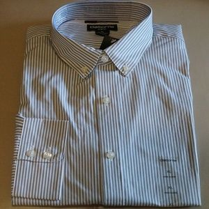 Claiborne - Slim-Fit Shirt (Lt Grey Stripes)